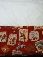 Rodeo Cowboy Riding Twin Size Bed Skirt  EUC