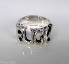 F UCK Sterling Silver .925 Ring Skull Ring Bikers RG0089/S