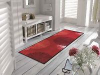 wash+dry Teppich waschbar Bodenmatte Fußmatte 60 x 180 cm  Firework red