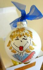 Angel Glass Round Ornament with Hair Stylist Woman on the Front MINT