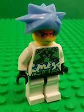 *NEW* Lego Hikaru Exo Force Mini Figure Man 8114 w Double Side Face Blue Hair x1