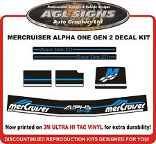 Mercruiser ALPHA ONE GEN 2  BLUE  Outdrive Decal Kit  reproductions mercury
