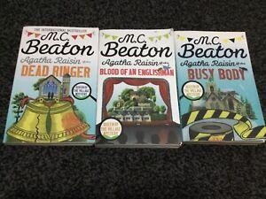 M C Beaton 3 X Paperback Books Agatha Raisin Bundle Job Lot