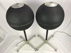 2 JVC Globe Floor Stereo Speakers Baffle 5303 Japan Run No 2 Vintage