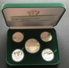 Ukraine-Poland FULL SET  5 SILVER Coins EURO 2012 FOOTBALL Sport UEFA