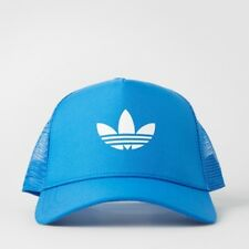 Adidas Originals Trefoil Trucker Cap Hat Snapback Blue AJ8955