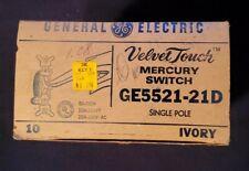 Vintage General Electric Velvet Touch Mercury Switch Empty Box 10 Ct Single Pole