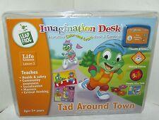 NEW! Leap Frog Imagination Desk TAD AROUND TOWN cartridge book SOCIAL SKILLS