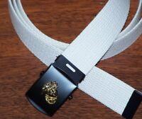 Belt USMC Buckle Web Marine Corps Military Style Semper Fi Grunt w/ P38 Opener