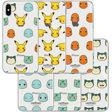 Genuine Pokemon Face Pattern Clear Jelly Case Galaxy Note 10 Note 10 Plus Case