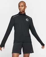 Nike Element Mens Chicago Marathon 2019 1/2 Zip Long Sleeve Running Top Shirt XL