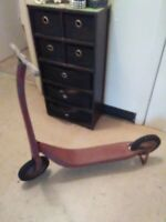1930's Vintage all original wooden handle Radio Line kids scooter 90 years old!!