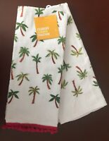 New 2-pack Celebrate Summer Together Kitchen Towels 16.5 X 26 Palm Tree Summer