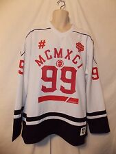 mens south pole 99 hockey style jersey shirt L nwt white red