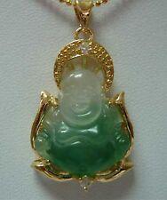 Mode,vert jade ,Bouddha forme ,Pendentif  + chaîne
