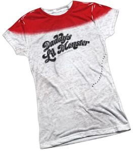 Suicide Squad Harley Quinn Daddy's Lil Monster Juniors T-Shirt S-2XL LIQUIDATION