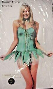 SEXY NEW GREEN TINKER FAIRY FANCY DRESS UP COSTUME HALLOWEEN LADIES SZ 6 - 20