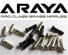 Araya Pro Class 2mm Brass Nipples Chrome and ED Black 36 pack 16mm, 14mm, 12mm