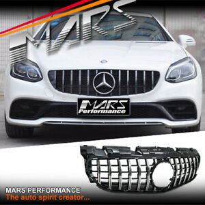 AMG GT-R Look Front Bumper Bar Grill Grille for Mercedes-Benz SLC R172 2016-2020
