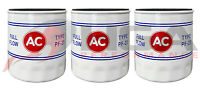 Genuine GM ACDelco Vintage Classic PF25 Oil Filter AC Logo 19187300 Set Of 3