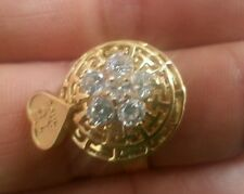 14k yellow gold ring  cz stones, 15 years gold ring