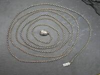Extra Lange Silber Kette Erbsenkette XXL Eichel Jugendstil Miederkette Trachten
