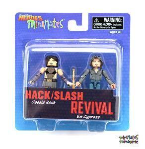 Comic Book Heroes Minimates Series 1 Hack/Slash Cassie Hack & Revival Em Cypress