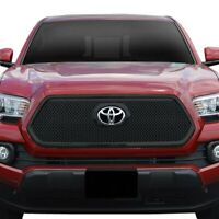 For Toyota Tacoma 2016-2019 SES Trims 1-Pc Gloss Black Mesh Main Grille
