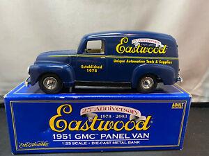 Ertl Eastwood 25th Anniversary 1951 GMC Panel Van 1/25 Diecast Coin Bank
