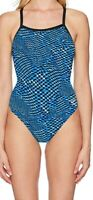 Speedo Women's Swimwear Blue Size 28 One Piece Endurance+ Flyback $84 #392
