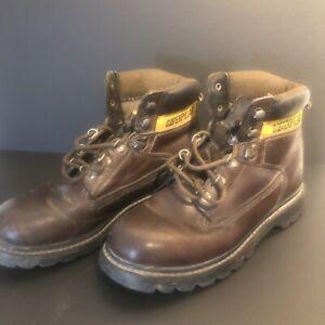 CATERPILLAR | Herren-Schürschuhe | Boots | Leder braun | Grösse EUR 41