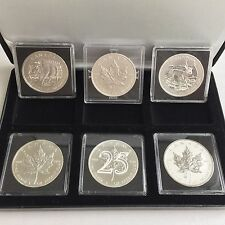 2013 Canada 1 Oz Silver Maple Leaf F15 25th Anni. Bison Snake Privy 6 Coins Set