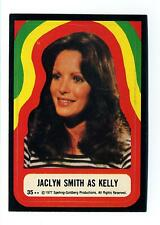 Topps 1978 Charlie's Angels Series 4 Sticker Card #35 Jaclyn Smith As Kelly