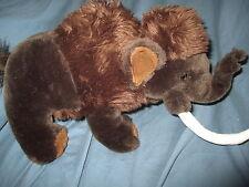 PLUSH WOOLY MAMMOTH BEANIE ANIMAL 2007 WILD REPUBLIC Brown