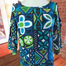 AMAZING VTG 60s Hawaiian Barkcloth Dress (Skirt & Top) Open Keyhole Arms. S-M