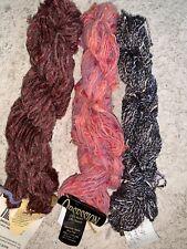 Mixed Lot Yarns Cotton Rayon Acrylic 3 Skeins