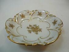 JLMenau gold Scroll Fine China Floral Plate Dish Graf Van Henneberg Germany 5""