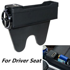 Leather Car Seat Pocket Organizer Console Gap Catcher Box Driver Seat Cup Holder