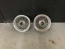 Jaguar XKE E Type Dayton Wire Wheels Rims Set of 2 15x6