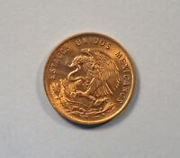 1963 Mo Mexico 1 Centavo Unc World Coin Brass one cent Eagle Wheat Ear