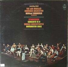 STRAVINSKY-CONCERTO in D-MARRINER-ORIGINAL 1975 ANGEL RECORDS S-37081-RARE