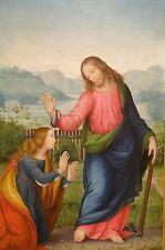 16th Century Italian Renaissance Old Master Noli Me Tangere Antique Oil Painting