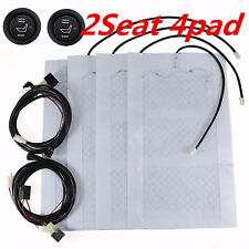 Car 2 Seats Carbon Fiber Heated Seat Heater Kit High-Low Switch 12V Universal