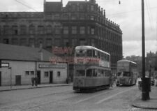 PHOTO  GLASGOW TRAM NO 1309 IN LONDON ROAD AT GREEN STREET 10/8/62