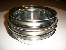 65-66 FORD FALCON  MUSTANG 3 Groove 289 CHROMED AIR PULLEY