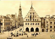 AK, Greifswald, Blick vom Rathaus in Straßenpartie, belebt, 1962
