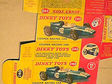 REFABRICATION BOITE COOPER FORMULE 1 DINKY TOYS 1963