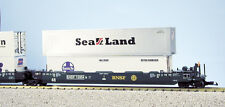 USA Trains G Scale Intermodal 5 Unit Articulated Set R17155 BNSF (No Containers)