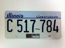 Original Illinois U.S.A. United States Automobile License Plate - (#F10)