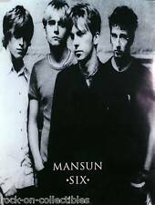 MANSUN 1998 SIX DOUBLE SIDED UK PROMO POSTER